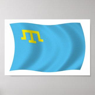 Crimean Tatars Flag Poster Print