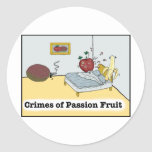 Crimes of Passion Fruit Zazzle Round Sticker