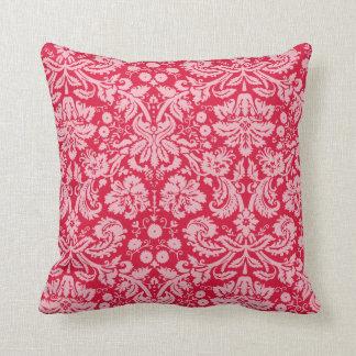 Crimson Damask Pattern Cushion