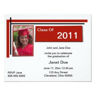 Crimson Graduation Photo Announcement