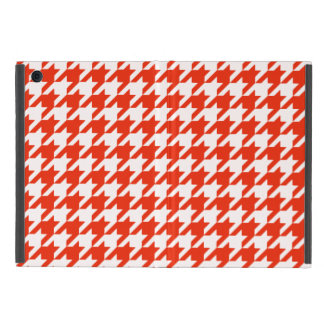 Crimson Houndstooth 1 Cover For iPad Mini