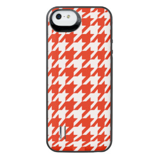 Crimson Houndstooth 1 iPhone SE/5/5s Battery Case