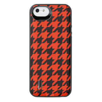 Crimson Houndstooth 2 iPhone SE/5/5s Battery Case