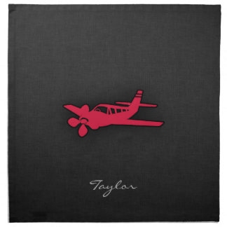Crimson Red Airplane Napkin