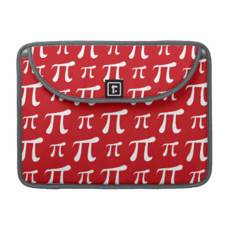 Crimson Red and White Pi Symbol Sleeve For MacBooks