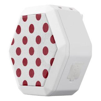 Crimson Red Polka Dots Circles