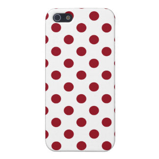 Crimson Red Polka Dots Circles iPhone 5 Cases