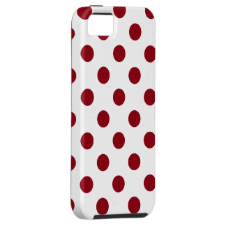 Crimson Red Polka Dots Circles iPhone 5 Cover