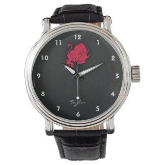 Crimson Red Taurus Watch