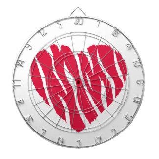 Crimson Red Wild Heart Dartboard