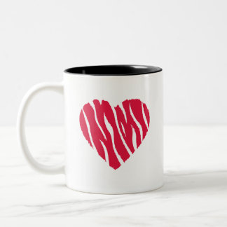 Crimson Red Wild Heart Coffee Mug