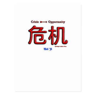 Crisis Equals Opportunity Postcard