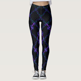 Crisscrossing Jesus Fish Leggings