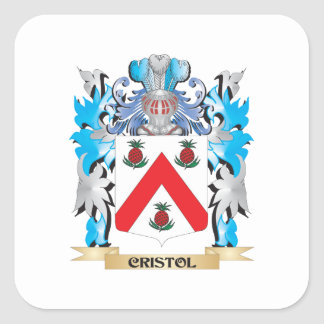 Cristol Coat of Arms - Family Crest Square Stickers