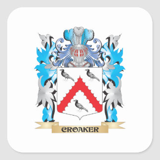 Croaker Coat of Arms - Family Crest Square Sticker