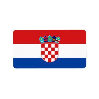 Croatia Flag Address Label