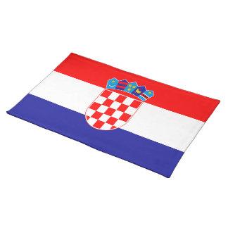 Croatian flag placemat