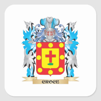 Croce Coat of Arms - Family Crest Square Sticker