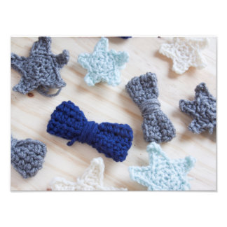 Crochet Bows and Stars Photographic Print
