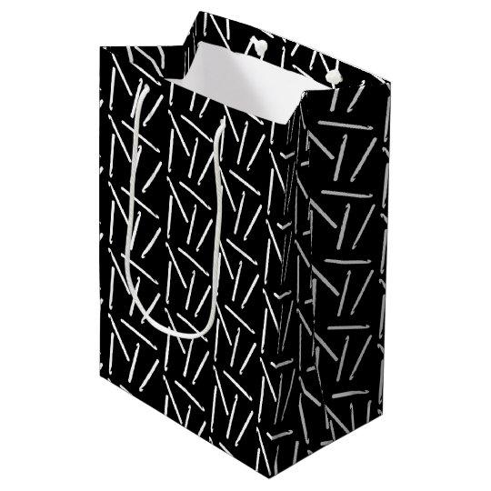 Crochet Hooks Crafts Pattern {Dark} Medium Gift Bag