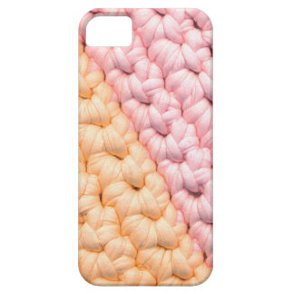 Crochet in pastel colors, pink and orange. barely there iPhone 5 case