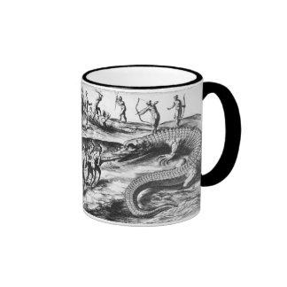 crocodile hunt ringer mug