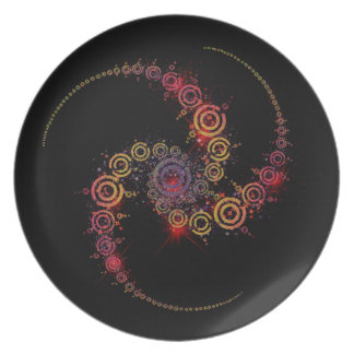 crop circle party plate