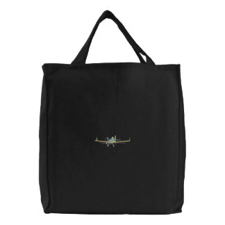 Crop Duster Embroidered Tote Bag