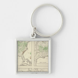 Crops, Statistical US Lithograph Key Ring