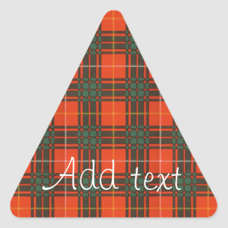 Crosby clan Plaid Scottish tartan Triangle Sticker