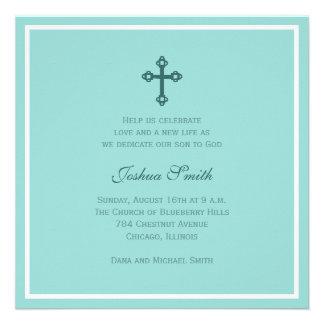 Cross Baptism (Blue) Custom Invitation