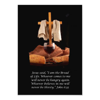 Cross Communion Sunday Bulleton Invitation