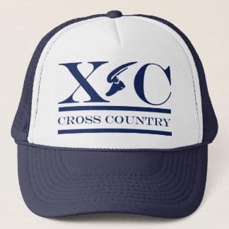 Cross Country Running Dark Blue Design Hat
