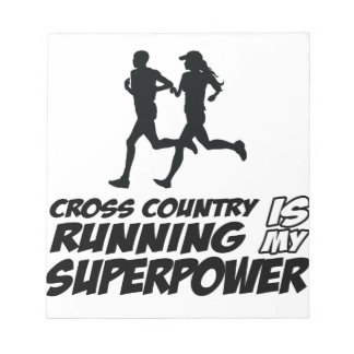 Cross Country running designs Notepad