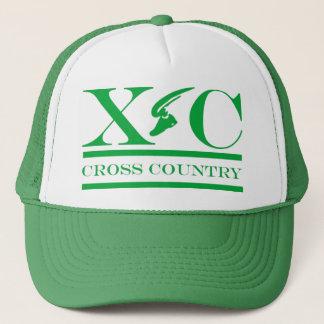 Cross Country Running Green Design Hat