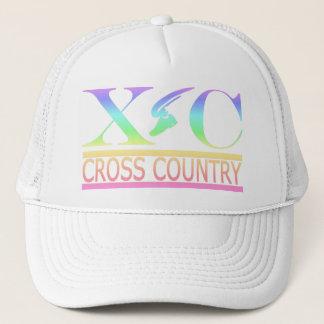 Cross Country Running Pastel Rainbow Design Hat