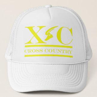 Cross Country Running Yellow Design Hat
