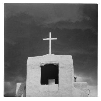 Cross on oldest church, San Miguel, Santa Fe, Tile
