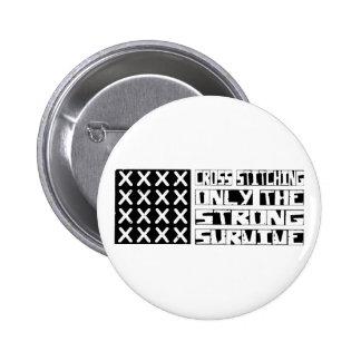 Cross-stitching Survive 6 Cm Round Badge