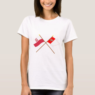 Crossed flags of Poland and Wielkopolskie T-Shirt