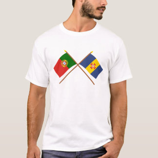 Crossed Flags of Portugal and Madeira T-Shirt