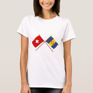 Crossed Flags of Switzerland and Madeira T-Shirt