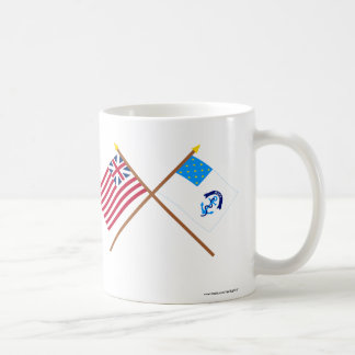 Crossed Grand Union and 2nd Rhode Island Regiment  Coffee Mug