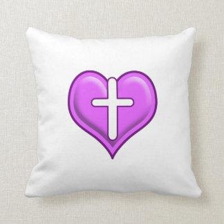Crossed Hearts Logo Design Throw Cushions