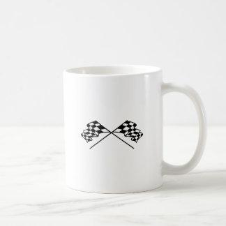 Crossed Racing Flags Basic White Mug