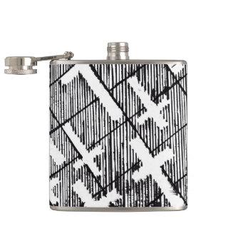 Crosses Pattern Original Art Goth Flask