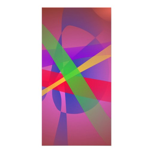 Crossing Lines Brown Abstract Art Photo Card Template