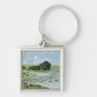 Crossing of the San Joaquin River, Paraguay, 1865 Key Ring