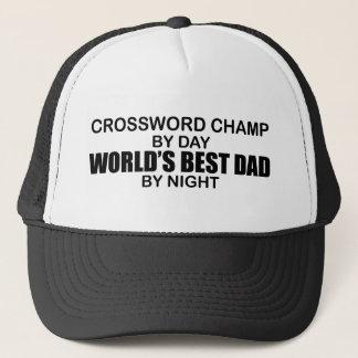 Crossword Champ World's Best Dad by Night Trucker Hat