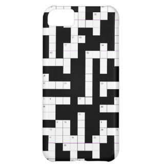Crossword puzzle phone case - fill in the blanks iPhone 5C case